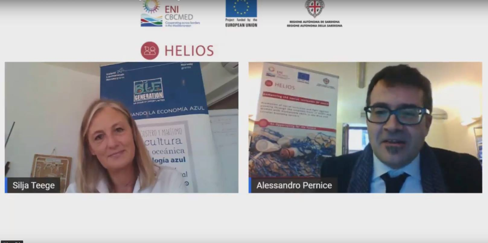 SeaTeach presented the BlueGeneration project at the Helios Project webinar