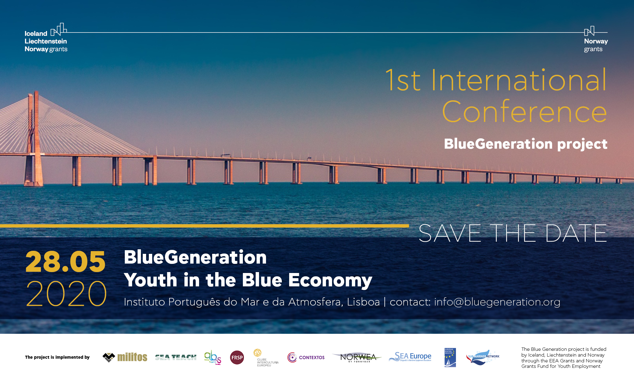 Save the Date for our International Conference in Lisbon